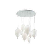Suspensie Ideal Lux, CLOWN SP8 BIANCO, 100883