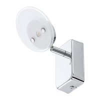 ERVAS 94166 Eglo, LED-aplica 1 crom/alb rotunda