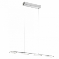Lustra LED living moderna CARTAMA 94244 Eglo, unghiulara crom/satinat-transparent