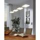 Lustra LED living moderna CARTAMA 94244 Eglo, unghiulara crom/satinat-transparent