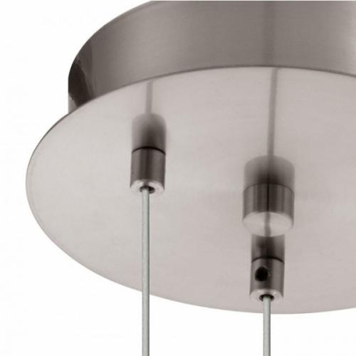 Lustra LED living ASCOLESE 94318 Eglo, nichel/ambra/alb