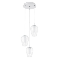 VENCINO 94341 Eglo, LED-lustra 3 D-380 alb/crom