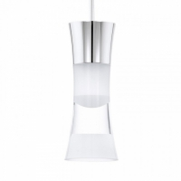 PANCENTO 94478 Eglo, LED-pendul crom/transparent-satin
