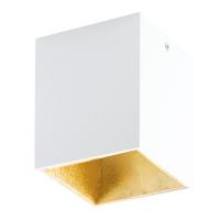 POLASSO 94498 Eglo, spot patrat aparent LED 100X100 alb/auriu
