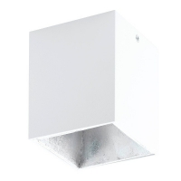 POLASSO 94499 Eglo, spot patrat aparent LED 100X100 alb/argintiu
