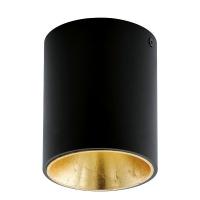POLASSO 94502 Eglo, spot cilindric aparent LED D-100 negru/auriu