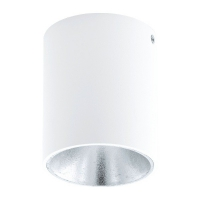 POLASSO 94504 Eglo, spot cilindric aparent LED D-100 alb/argintiu