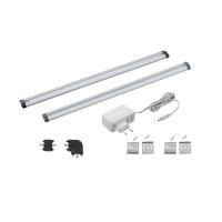 Bagheta LED bucatarie 2x30cm touch, aluminiu, VENDRES 94693
