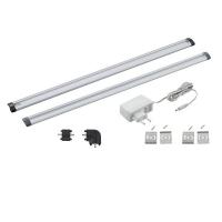 Bagheta LED bucatarie 2x50cm touch, aluminiu, VENDRES 94694