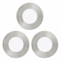 FUEVA 1 94734 Eglo, set 3x spot incastrabil LED D-85 nichel