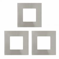 FUEVA 1 94735 Eglo, set 3x spot incastrabil LED 85X85 nichel