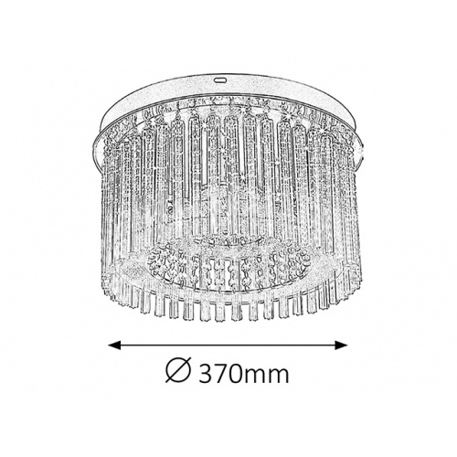 Danielle 2449 Rabalux, plafoniera 18W-LED cilindrica