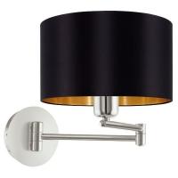 Maserlo 95054 Eglo, lampa lectura 1xE27, negru-auriu