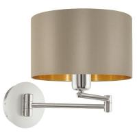 Maserlo 95055 Eglo, lampa lectura 1xE27, taupe-auriu