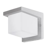 Aplica exterior Desella 95096 Eglo, 10W-LED, argintiu, cubica