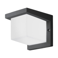 Aplica exterior Desella 95097 Eglo, 10W-LED, antracit, cubica