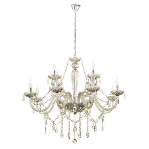 Basilano 39094 Eglo, candelabru cristal, 12xE14, cognac