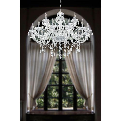 Basilano 39103 Eglo, candelabru cristal, 18xE14, transparent