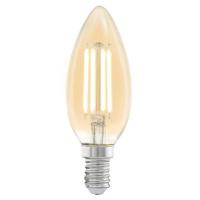 Edison Vintage 11557 Eglo, bec LED E14, C37, 4W, chihlimbar 2200K