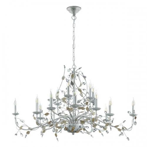 Candelabru 15x40W, E14, Argintiu/Cristal Flitwick 1 49828 Eglo