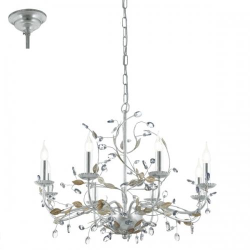 Candelabru 8x40W, E14, Argintiu/Cristal Flitwick 1 49829 Eglo