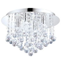 Plafoniera LED cristale baie si bucatarie Almonte 94878 Eglo, 4x2.5W-LED