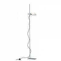 Lampadar Led Book Grigia 15W 1300lm gri, intrerupator de picior, cu lumina orientabila