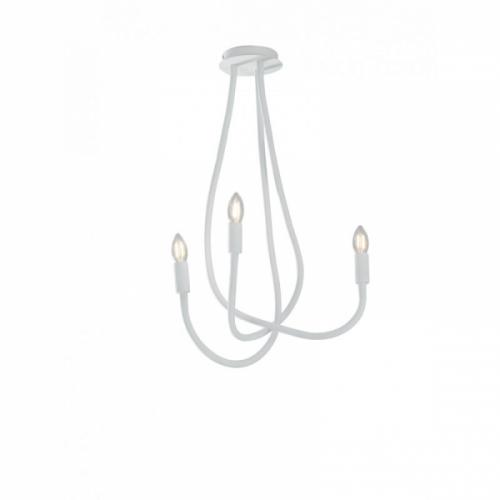 Lustra Lover Flessibile Siliconato Bianco 3xE14 Max 40W