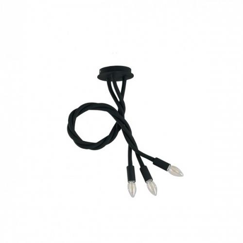 Lustra Lover Flessibile Siliconato Nero 3xE14 Max 40W