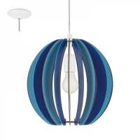 Pendul FABELLA 95949 HL/1 E27 lamele albastre