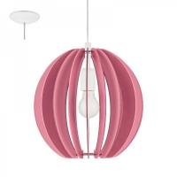 Pendul FABELLA 95953 HL/1 E27 lamele roz