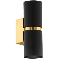 Spot PASSA 95364 2xGU10 D60 negru/auriu