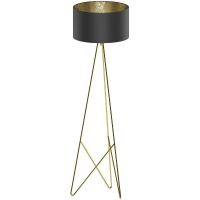 Lampadar CAMPORALE 39231 STL/1 alama/negru-auriu