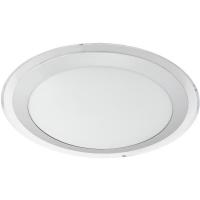 Plafoniera COMPETA 1 95677 LED-DL D335 alb/argintiu/transparent