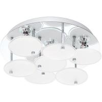 Plafoniera JURANDA 95518 DL/4 GU10-LED crom/satin-clar