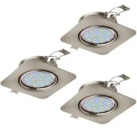 Spoturi orientabile PENETO 94268 set 3 spoturi incastrabile GU10-LED nichel