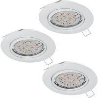 Spoturi orientabile PENETO 94406 set 3 spoturi incastrabile GU10-LED albe