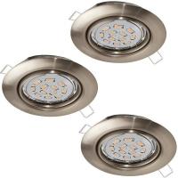 Spoturi orientabile PENETO 94408 set 3 spoturi incastrabile GU10-LED nichel
