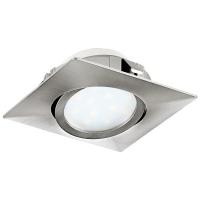 Spot ultraplat PINEDA 95843 LED-incastrabil 84X84 nichel mat