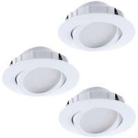Spoturi ultraplate PINEDA 95857 3XLED-incastrabil D84 alb dimmabil