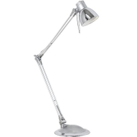 Lampa de birou PLANO LED 95829 TL/1 GU10 argintiu/crom