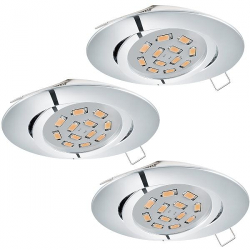 Spot TEDO 95362 SET 3Xincastrabil GU10-LED 5W 3000K crom