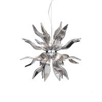 Lustra Candelabru LEAVES SP8 FUME 111940
