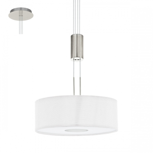 Lustra ROMAO 1 95329 LED D380 nichel mat/alb