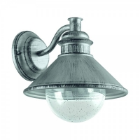 ALBACETE 96263, Aplica exterior/1 argintiu-antic/clar