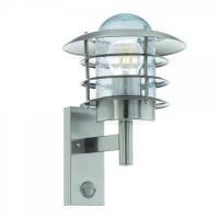 MOUNA 96402, Aplica exterior/1 cu senzor otel inoxidabil/clar