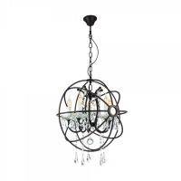 WEST FENTON 49741, candelabru/5 ruginiu/cristal