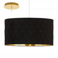Pendul bucatarie modern DOLORITA 39224, 3x27, D-500, auriu/negru-auriu