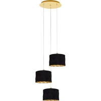 Lustra living moderna DOLORITA 39226, 3xE27 auriu/negru-auriu