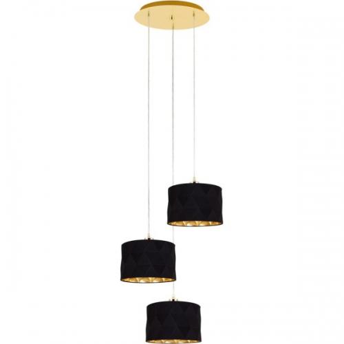 DOLORITA 39226, Lustra/3 auriu/negru-auriu